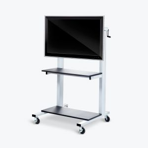 Crank-Adjustable Flat Panel TV Cart