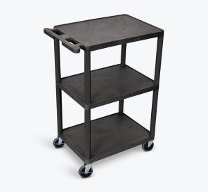 Utility Cart - 3 Shelves Structural Foam Plastic