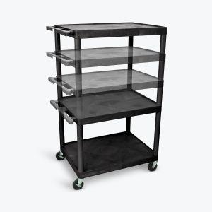 Multi-Height AV Cart - Three Large Shelves