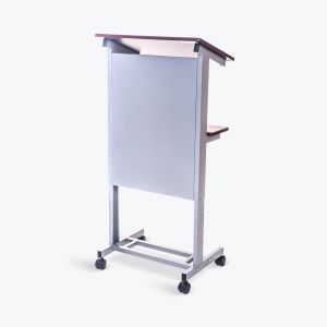 Rolling Adjustable-Height Podium
