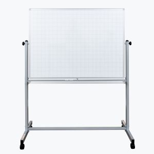 """48"""" x 36"""" Mobile Magnetic Double-Sided Ghost Grid Whiteboard"""