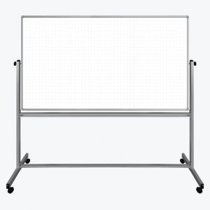 """72"""" x 40"""" Mobile Magnetic Double-Sided Ghost Grid Whiteboard"""