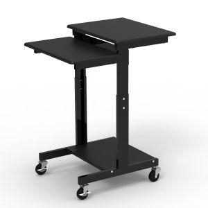 Adjustable-Height Presentation Workstation