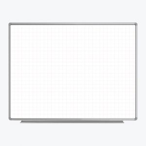 """48"""" x 36"""" Wall-Mounted Magnetic Ghost Grid Whiteboard"""